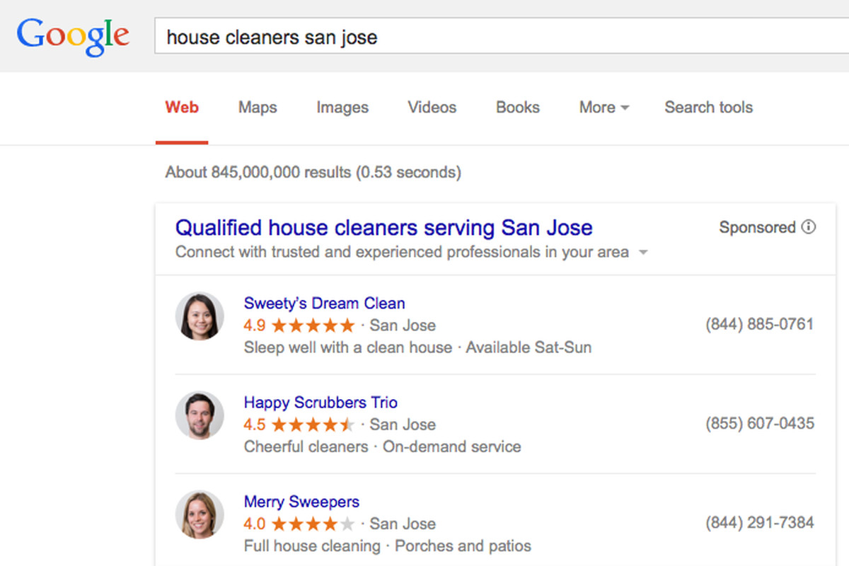 google begins advertising home services in search results the verge google is starting to make it easier to plumbers locksmiths cleaners and other home service workers it s rolling out a new type of search ad today