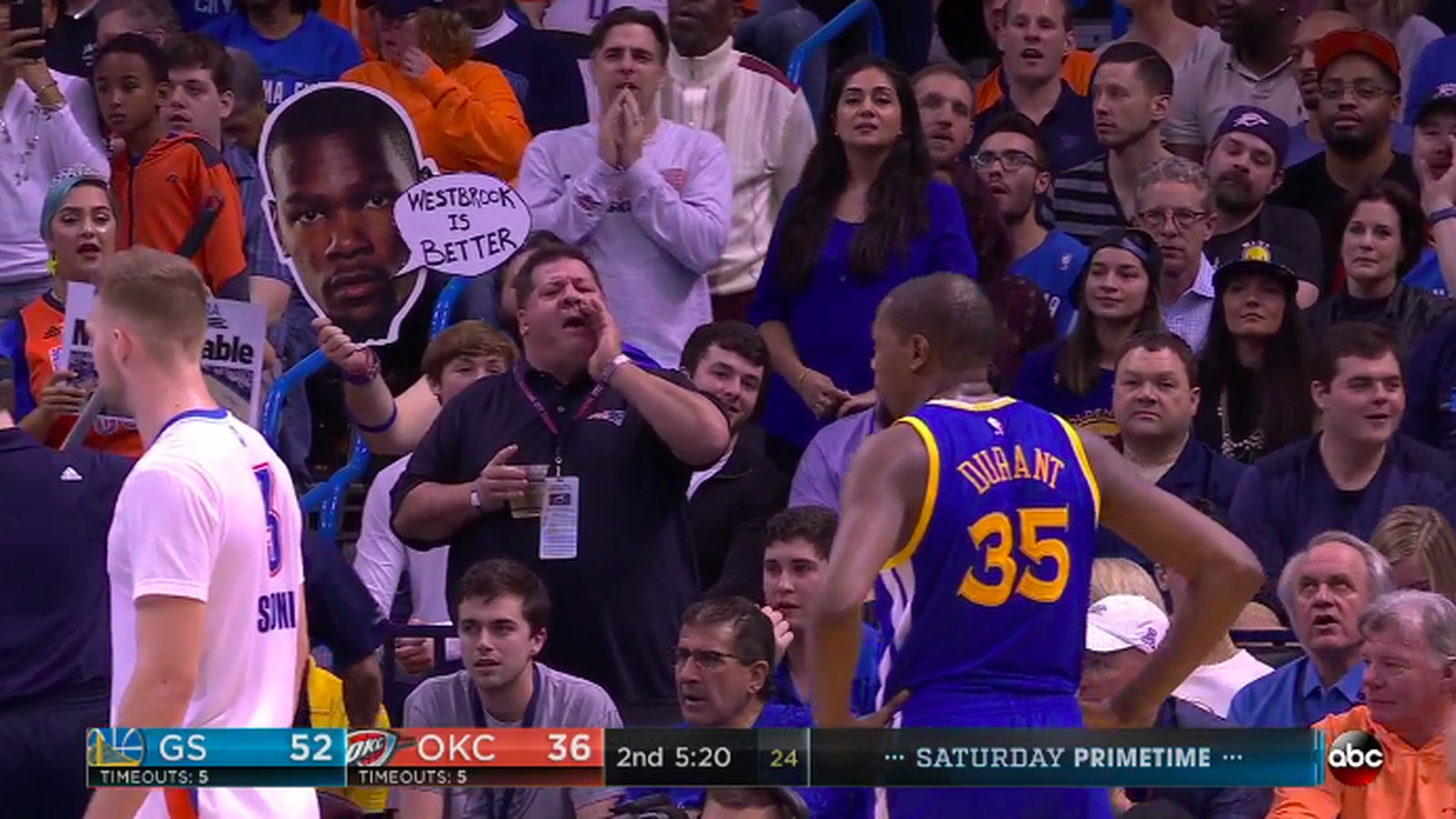 Thunder Fans Are Chanting Cupcake At Kevin Durant Here