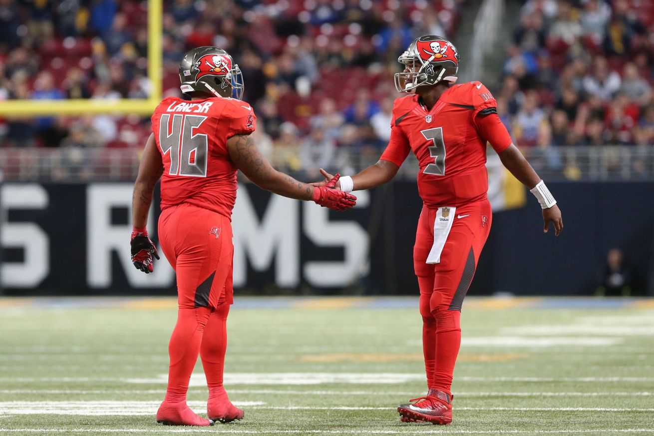 Buccaneers In Red Falcons In Gray For Color Rush Bucs