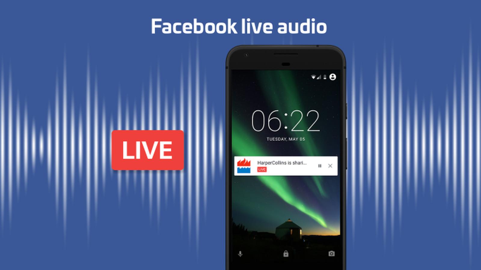 Resultado de imagen para live audio facebook