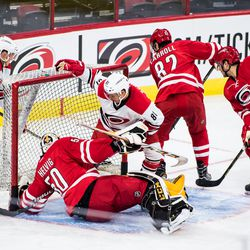 Camp invitee Nick Schilkey drives the net. July 1, 2017. Carolina Hurricanes Summerfest and Development Camp, PNC Arena, Raleigh, NC. Copyright © 2017 Jamie Kellner. All Rights Reserved.