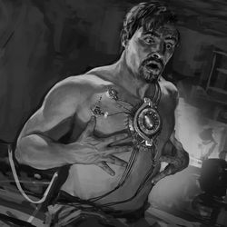 RYAN MEINERDING First chest plate / Concept art for Iron Man 2008 RYAN MEINERDING Working on heart / Keyframe for Iron Man 2008 <br><br>© 2017 MARVEL<br><br><br><br>