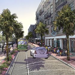 """The """"historic"""" option for River street includes restoring streetcar service."""