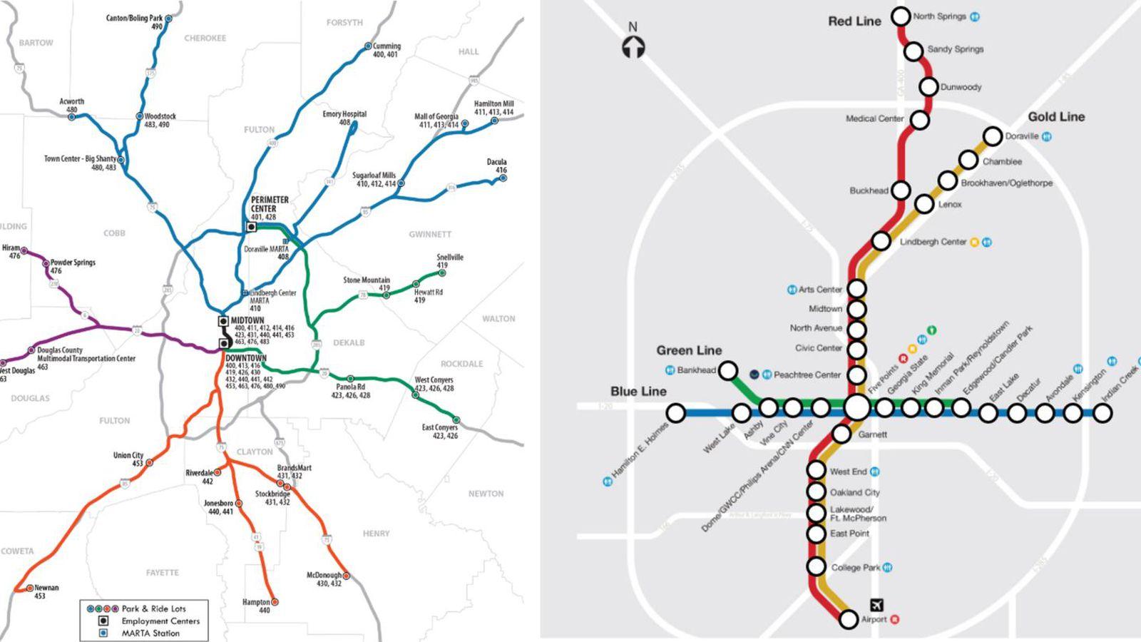 Map Atlanta Transit Options To Get You Through City