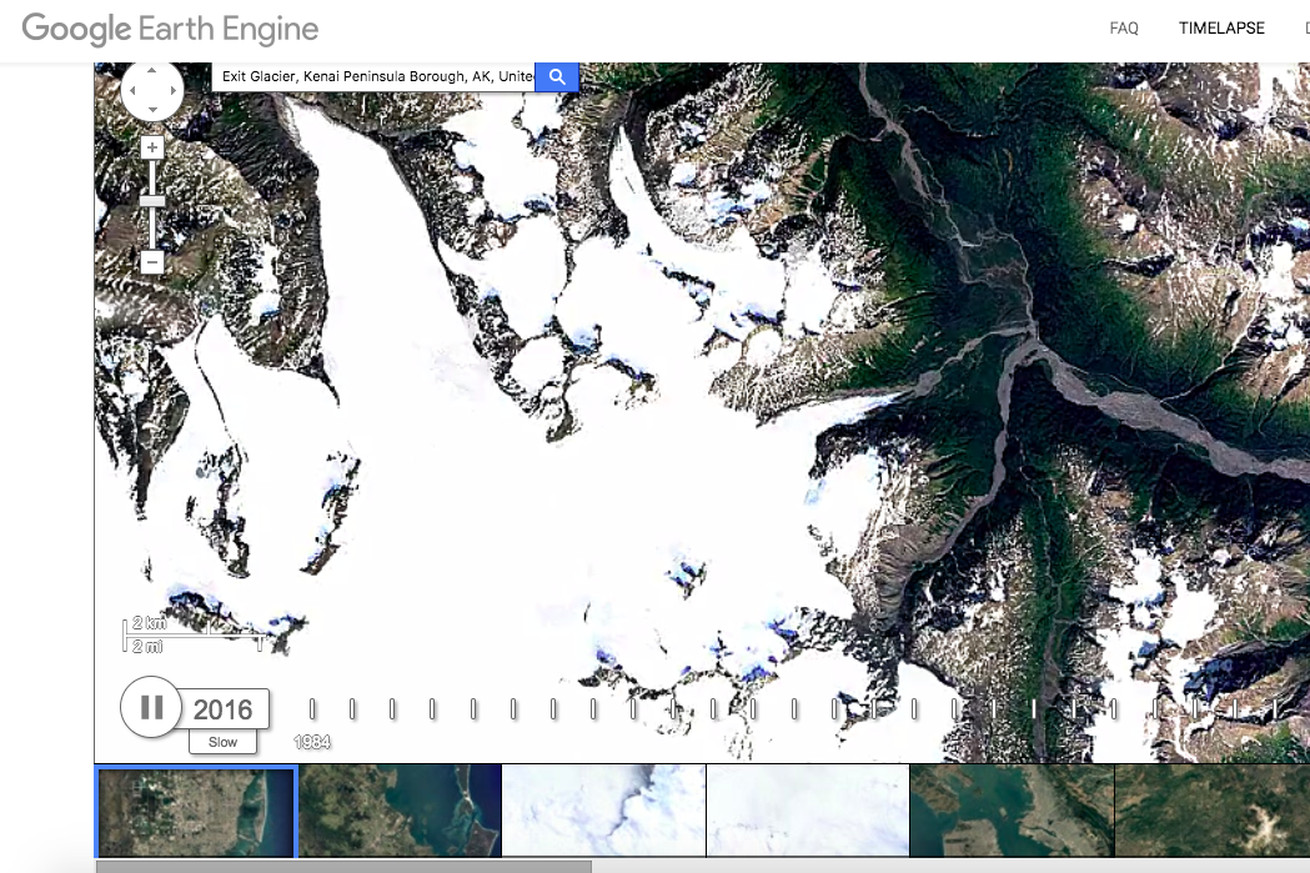 google earth s timelapse update illustrates 30 years of climate change