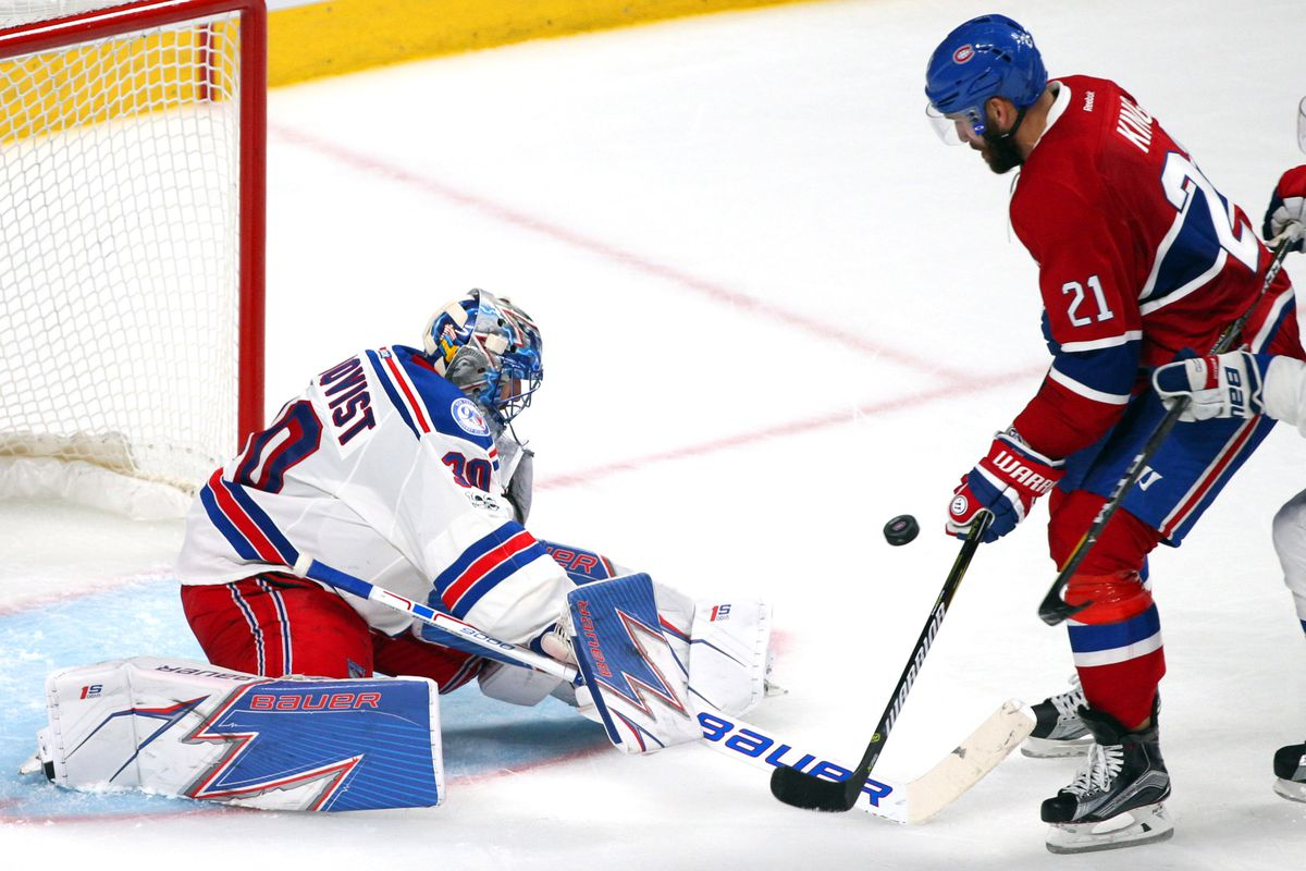 National Hockey League roundup: Rangers shut out Canadiens, 2-0