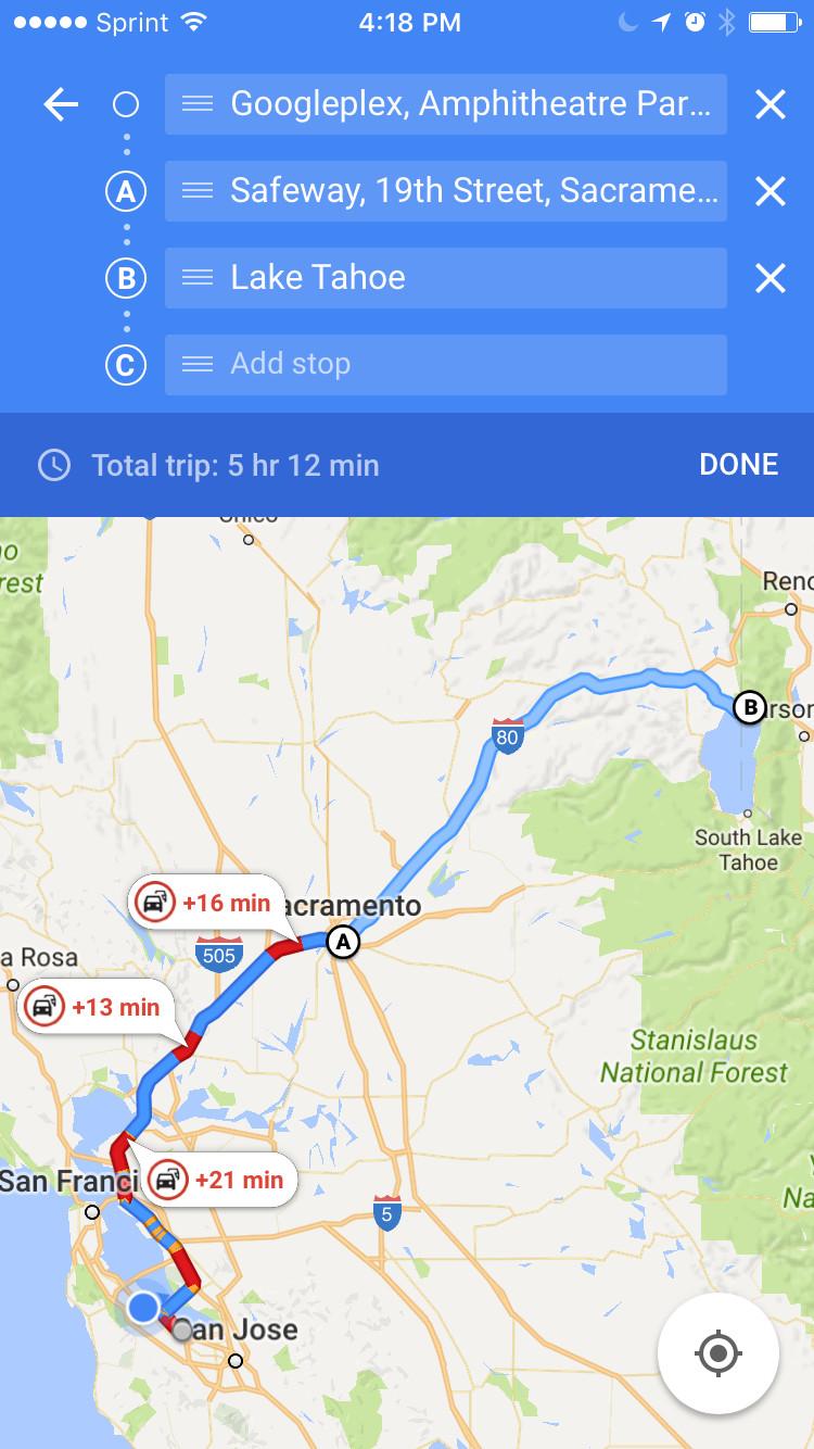 google maps multiple destinations ios-news-Google