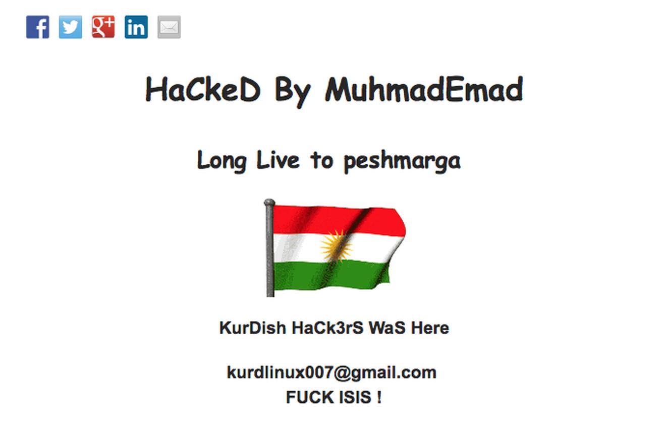 Kurdish hacker uses WSOF website to wage war against ISIS