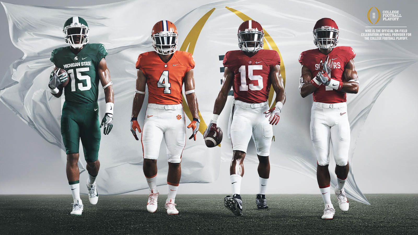 Nike Reveals All 4 Teams In 2015 College Football Playoff