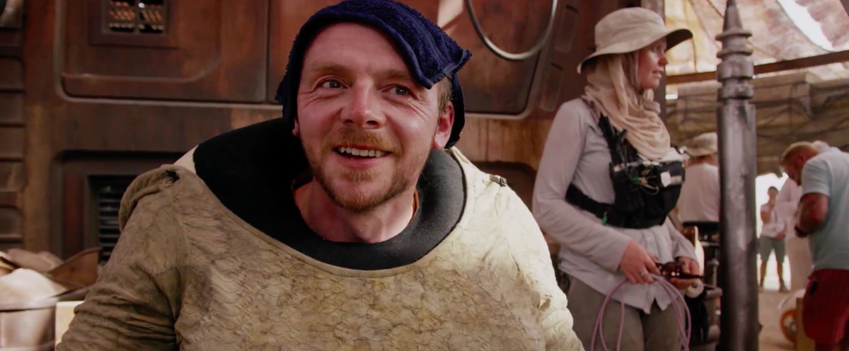 Simon Pegg Star Wars BTS