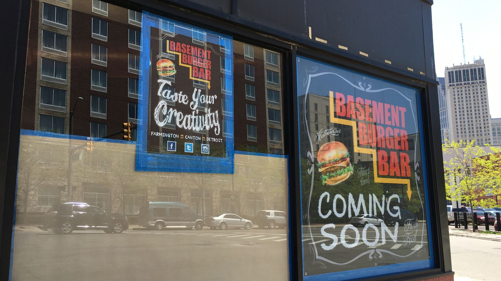 all signs point to basement burger bar opening very soon in greektown