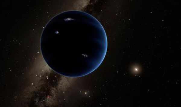 This artistic rendering shows the distant view from Planet Nine back toward the sun.