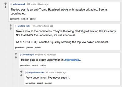reddit conspiracy
