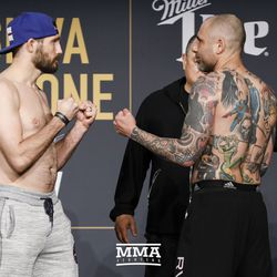 Ryan Couture and Haim Gozali square off at Bellator NYC weigh-ins.