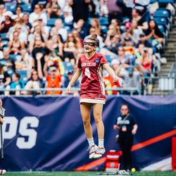 Kenzie Kent celebrates a BC goal