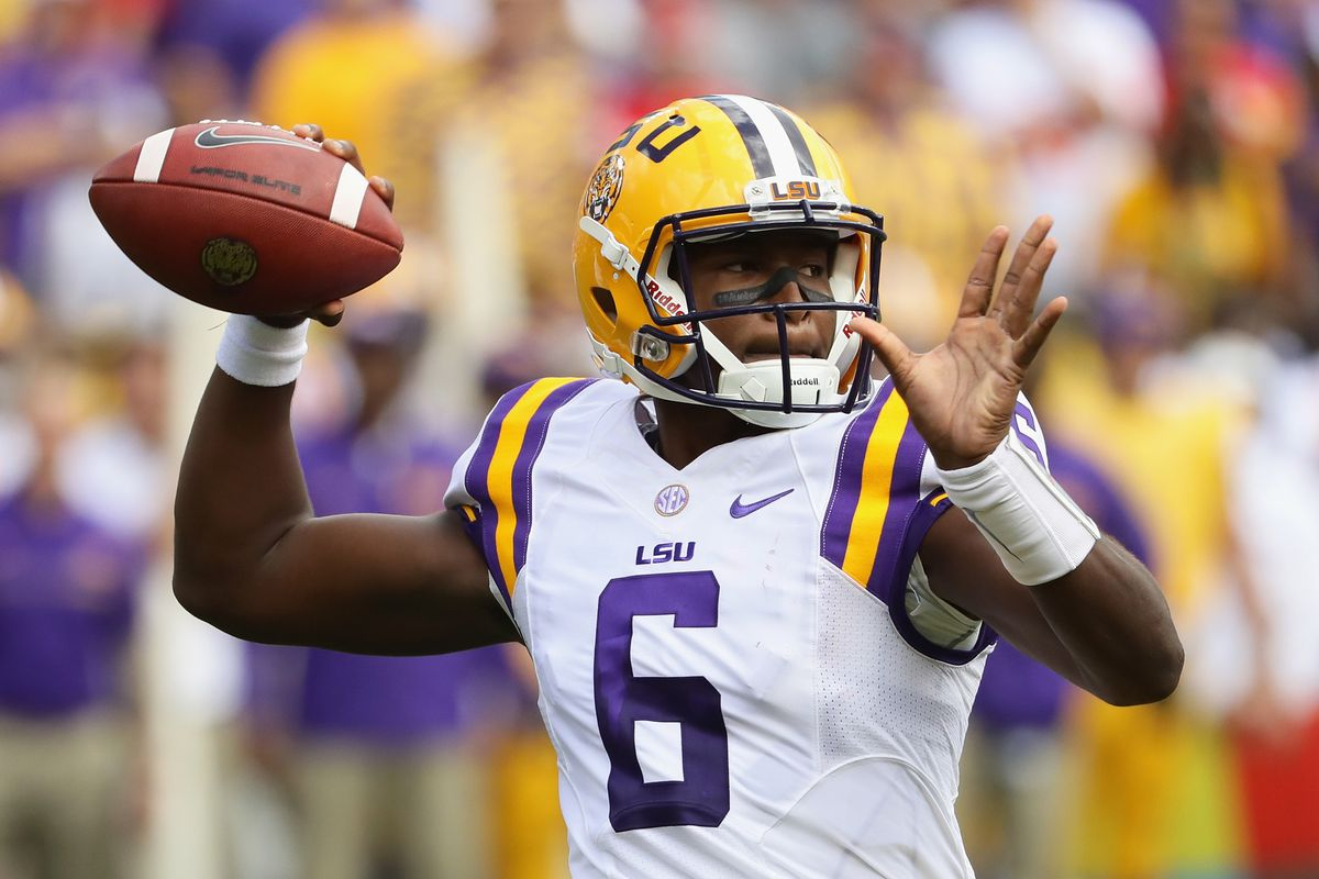 Ex-LSU QB Brandon Harris announces he's transferring to North Carolina