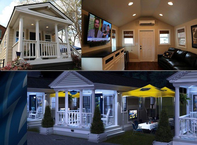 Georgia Southern built tiny mansions for football fans to tailgate