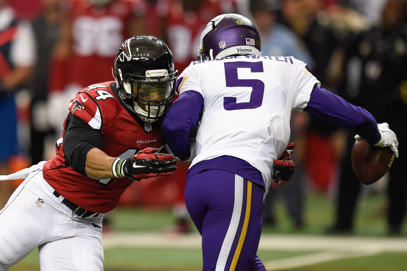 Jerseys NFL Outlet - Report: Atlanta Falcons rookie Vic Beasley to forgo surgery, allow ...