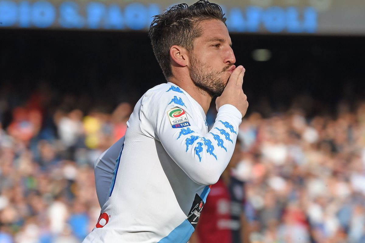 Mertens brace takes Napoli up to second in Serie A
