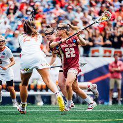 Kayla O'Connor makes a pass