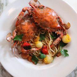 Spaghetti granchio
