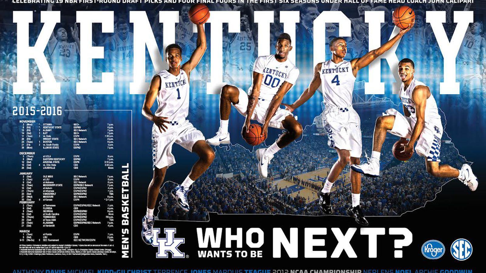 Kentucky Wildcats Basketball Full 2015 16 Schedule: Kentucky Wildcats Basketball Posters Unveiled; How You Can