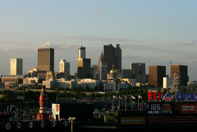 Atlanta skyline view from Turner Field