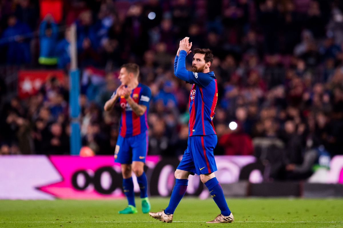 Messi scores twice again as Barcelona routs Osasuna 7-1