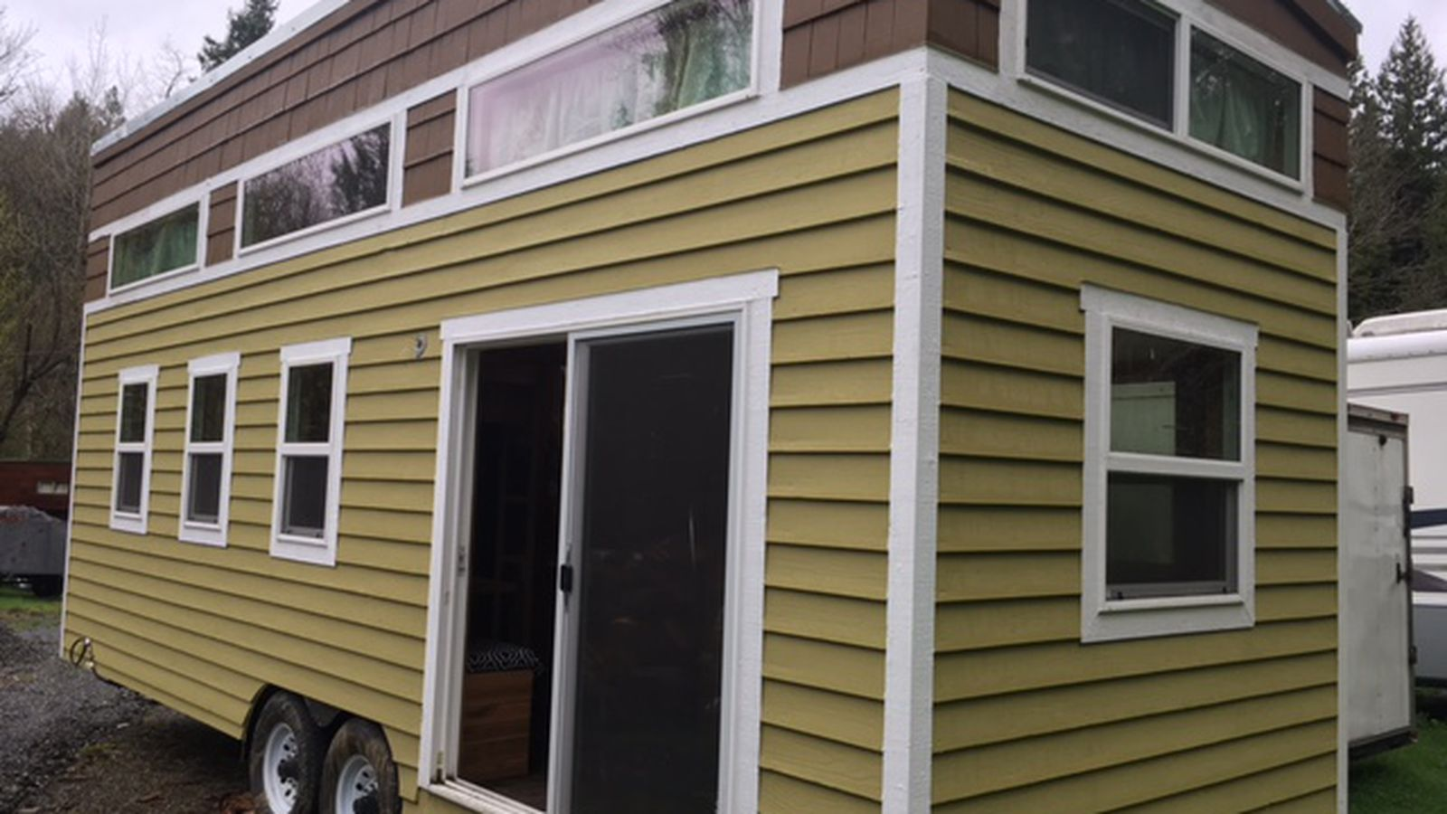 This 370 square foot house is built for a family of four for Tiny house for family of 4