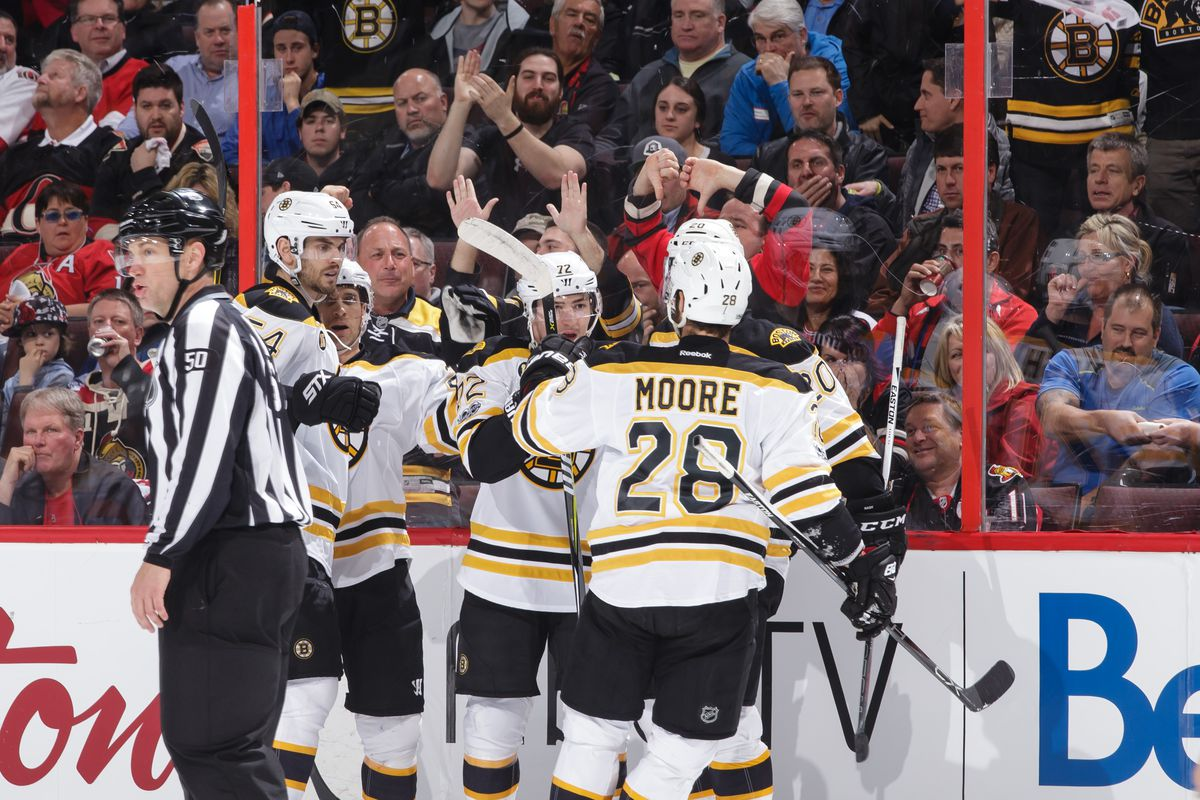 Bruins' Krejci, Miller out for Game 2