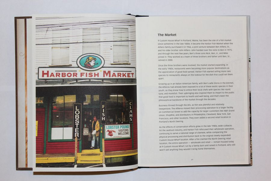 A look inside the harbor fish market cookbook eater maine for Harbor fish market