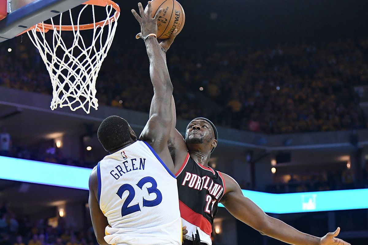 Image result for draymond green blocks vonleh