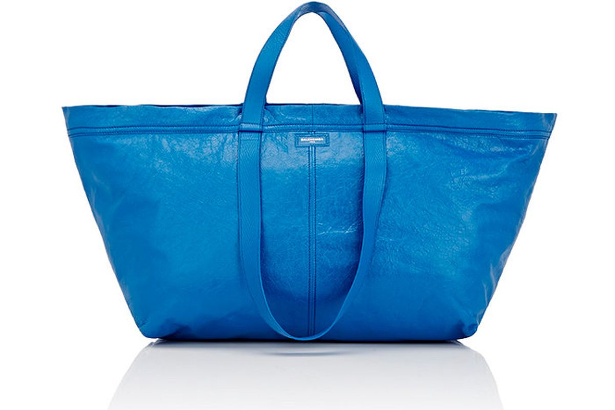 ikea calls out balenciaga s 2 145 take on its frakta bag