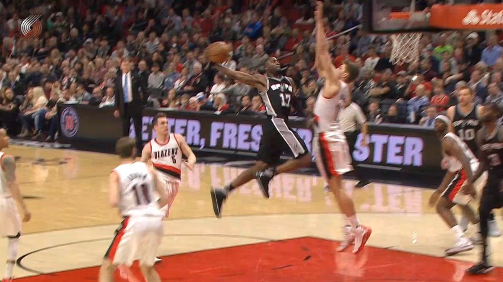 0cb2f3085e5c Jonathon Simmons sent Meyers Leonard into another dimension with this dunk
