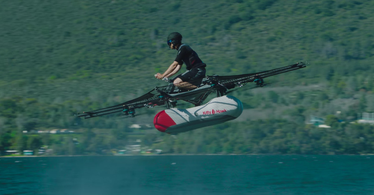 This is the first footage of Larry Page's 'flying car'