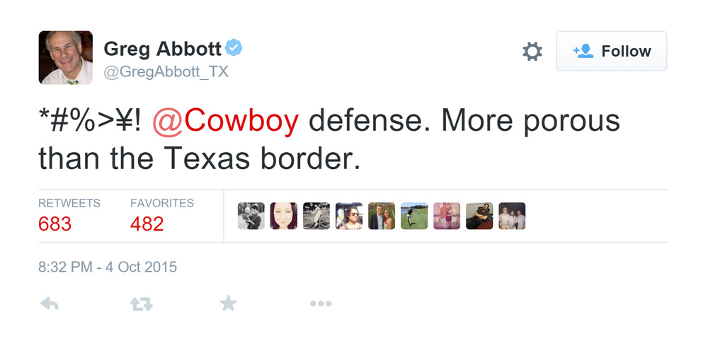 Greg Abbott Texas Governor tweet