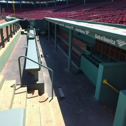 No ballpark tour is complete without a sneak peek at the dugout!