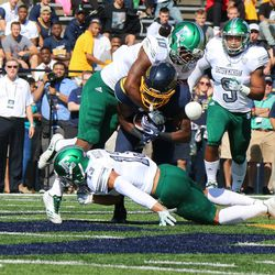 One of the Toledo Running Backs getting tackled.<br>
