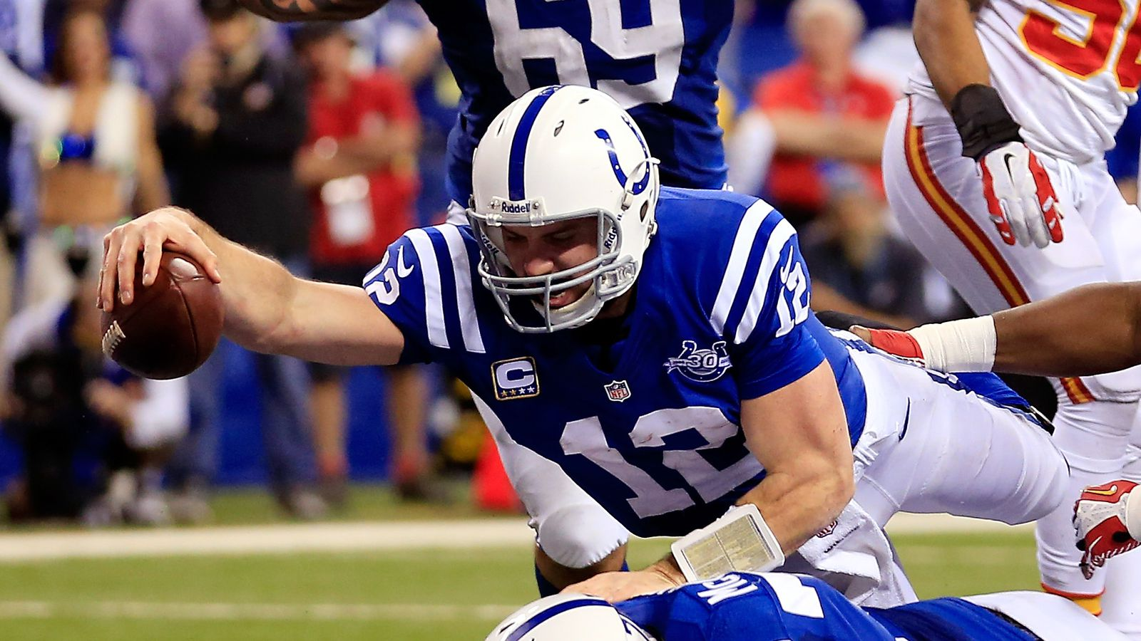 Andrew Luck S Superman Touchdown Vs Chiefs Helped Mike