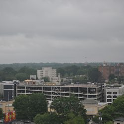 The view toward Ponce City Market from an east-facing unit.