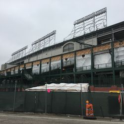Slightly closer view of the west side of the ballpark