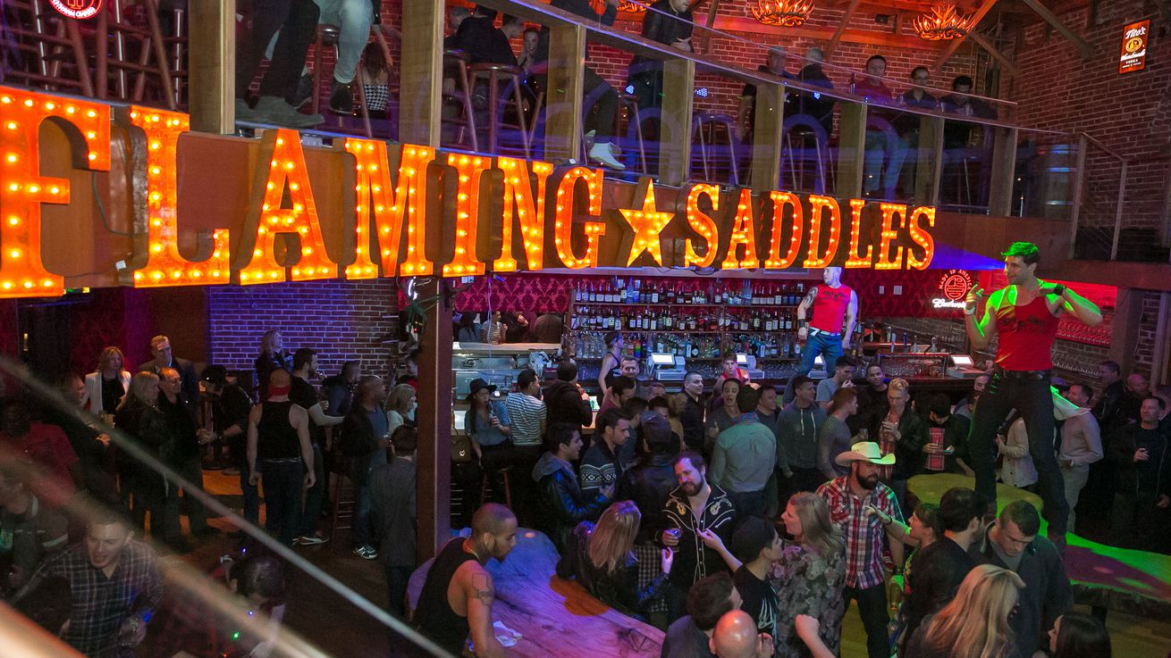 Flaming Saddles West Hollywood Gay bar