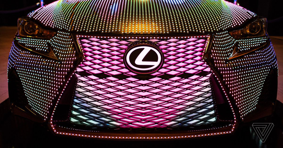 Car Led Lights >> Get caught up in Lexus LIT IS's mesmerizing light display - The Verge
