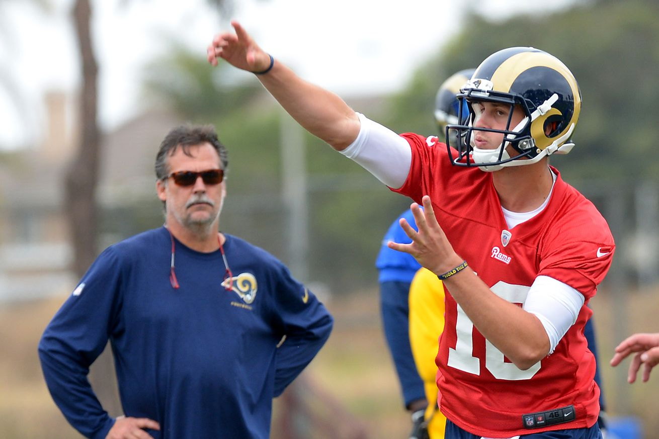 No. 1 pick Jared Goff will be Rams' backup QB on Sunday