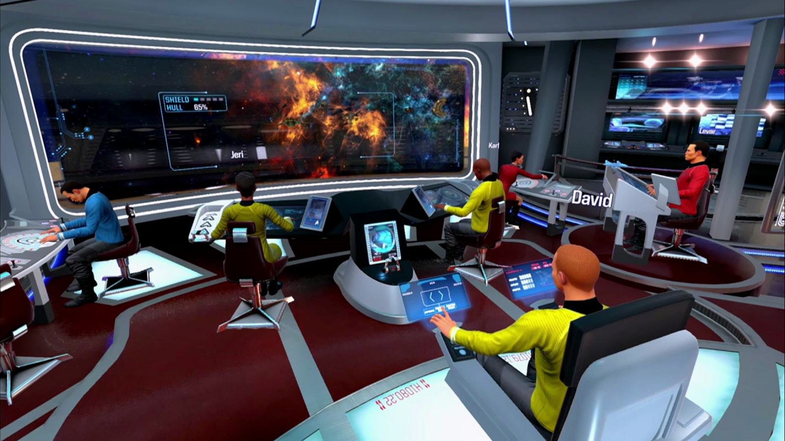 watch starfleet veterans play star trek 39 s vr game bridge crew polygon. Black Bedroom Furniture Sets. Home Design Ideas