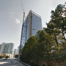 With the apartment tower completed, work was also nearly finished on Three Alliance Center, the area's newest office high-rise, back in October.