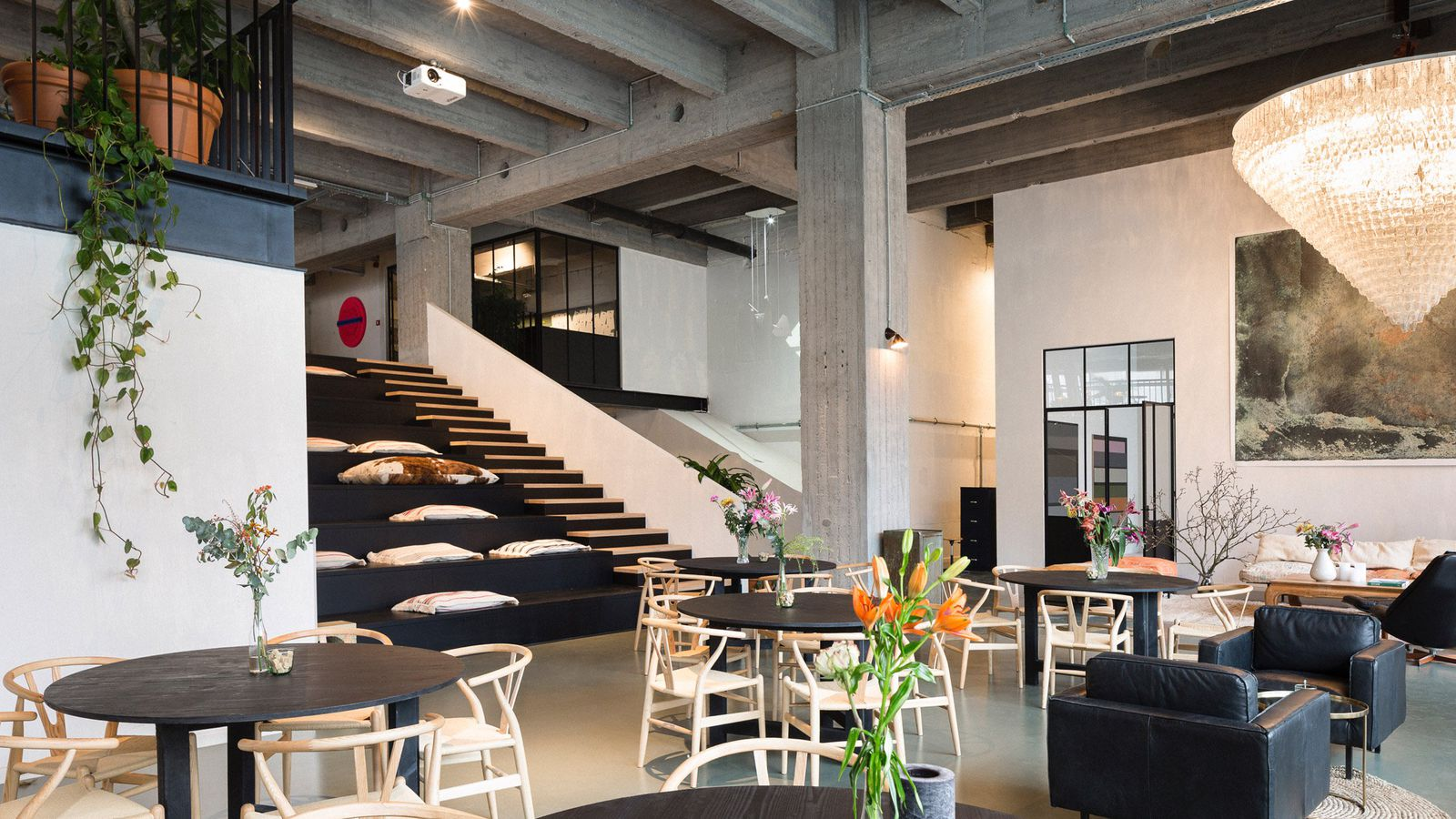 Nyc s high line inspired this sleek coworking space in for Space and co