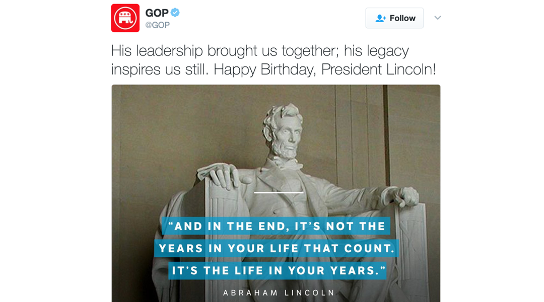 The Republican Party's Twitter account is celebrating ...