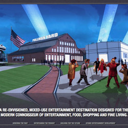 Aspects of the master plan put together by Pullman Yard bidder Atomic Entertainment.