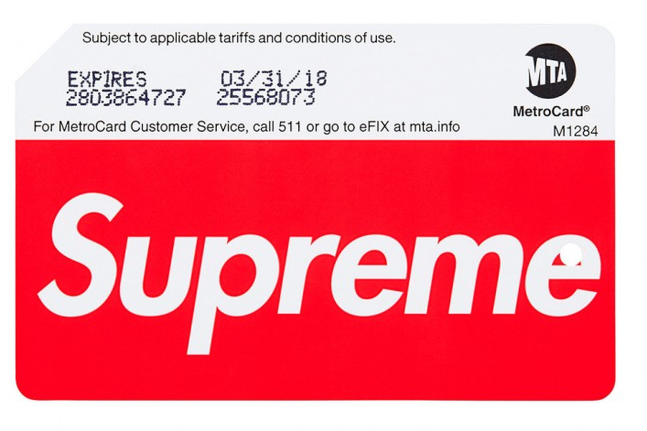 the mta s supreme branded metrocard is a hot commodity